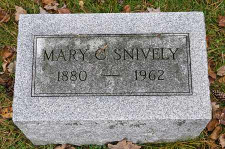 SNIVELY, MARY C. - Carroll County, Ohio | MARY C. SNIVELY - Ohio Gravestone Photos