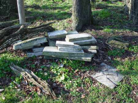STONES, PILED BY FENCE - Carroll County, Ohio | PILED BY FENCE STONES - Ohio Gravestone Photos