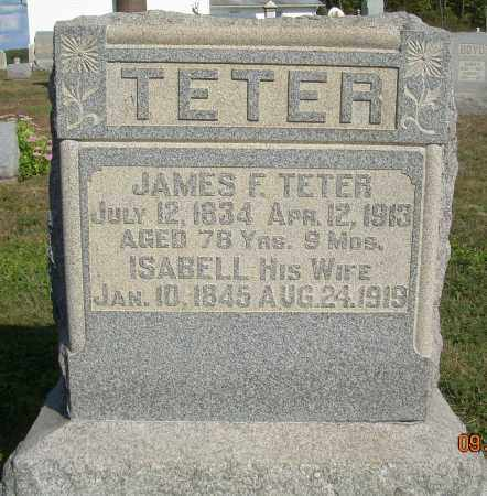 TETER, JAMES F - Carroll County, Ohio | JAMES F TETER - Ohio Gravestone Photos