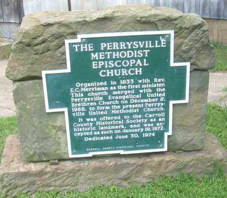 THE PERRYSVILLE ME CHURCH, SIGN - Carroll County, Ohio | SIGN THE PERRYSVILLE ME CHURCH - Ohio Gravestone Photos