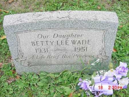 WADE, BETTY LEE - Carroll County, Ohio | BETTY LEE WADE - Ohio Gravestone Photos