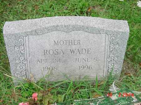 WADE, ROSA - Carroll County, Ohio | ROSA WADE - Ohio Gravestone Photos