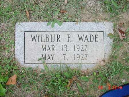WADE, WILBUR F. - Carroll County, Ohio | WILBUR F. WADE - Ohio Gravestone Photos