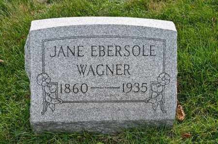 WAGNER, JANE - Carroll County, Ohio | JANE WAGNER - Ohio Gravestone Photos