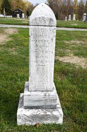 WAGONER, SARAH - Carroll County, Ohio | SARAH WAGONER - Ohio Gravestone Photos