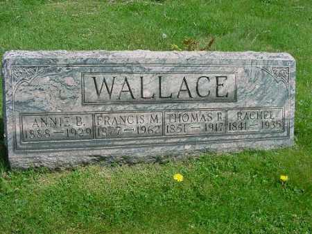 WALLACE, RACHEL - Carroll County, Ohio | RACHEL WALLACE - Ohio Gravestone Photos