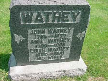 WATHEY, JOHN - Carroll County, Ohio | JOHN WATHEY - Ohio Gravestone Photos