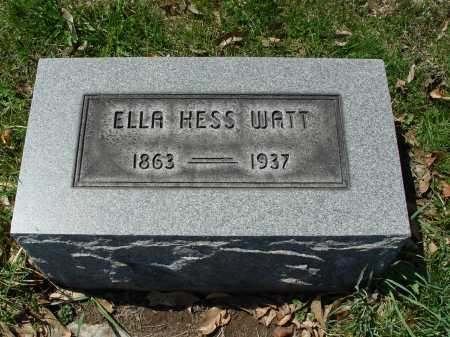 HESS WATT, ELLA - Carroll County, Ohio | ELLA HESS WATT - Ohio Gravestone Photos