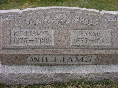 WILLIAMS, FANNIE - Carroll County, Ohio | FANNIE WILLIAMS - Ohio Gravestone Photos