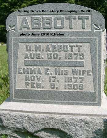 ABBOTT, EMMA E. - Champaign County, Ohio | EMMA E. ABBOTT - Ohio Gravestone Photos