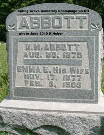 PRESSLER ABBOTT, EMMA E. - Champaign County, Ohio | EMMA E. PRESSLER ABBOTT - Ohio Gravestone Photos