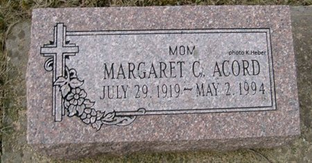 ACORD, MARGARET KAYTHRYN - Champaign County, Ohio | MARGARET KAYTHRYN ACORD - Ohio Gravestone Photos