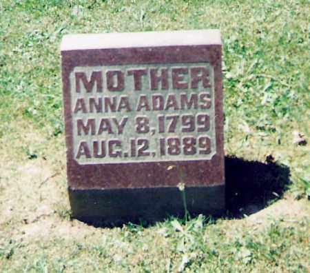 SANFORD ADAMS, ANNA - Champaign County, Ohio | ANNA SANFORD ADAMS - Ohio Gravestone Photos