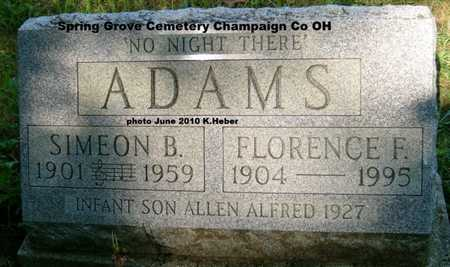 ADAMS, SIMEON B. - Champaign County, Ohio | SIMEON B. ADAMS - Ohio Gravestone Photos