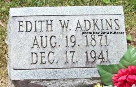 ADKINS, EDITH W - Champaign County, Ohio | EDITH W ADKINS - Ohio Gravestone Photos