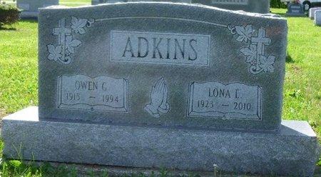 ADKINS, LONA E - Champaign County, Ohio | LONA E ADKINS - Ohio Gravestone Photos