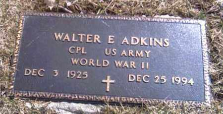 ADKINS, WALTER EVERETT - Champaign County, Ohio | WALTER EVERETT ADKINS - Ohio Gravestone Photos