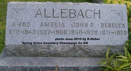 ALLEBACH, JOHN ROBERT - Champaign County, Ohio | JOHN ROBERT ALLEBACH - Ohio Gravestone Photos