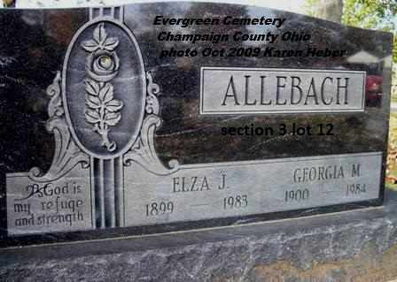 HUBBLE ALLEBACH, GEORGIA - Champaign County, Ohio | GEORGIA HUBBLE ALLEBACH - Ohio Gravestone Photos