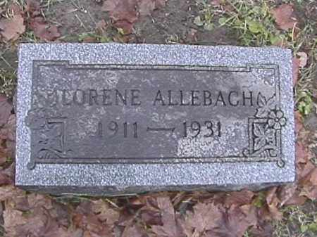 ALLEBACH, LORENE - Champaign County, Ohio | LORENE ALLEBACH - Ohio Gravestone Photos