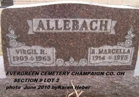 ALLEBACH, RUBY - Champaign County, Ohio | RUBY ALLEBACH - Ohio Gravestone Photos