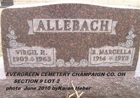 ALLEBACH, RUBY MARCELLA - Champaign County, Ohio | RUBY MARCELLA ALLEBACH - Ohio Gravestone Photos