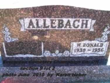 ALLEBACH, WILLIAM RONALD - Champaign County, Ohio | WILLIAM RONALD ALLEBACH - Ohio Gravestone Photos