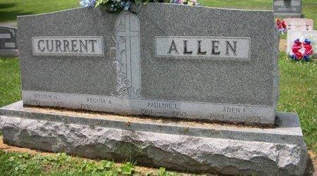 ALLEN, ADEN EDGAR - Champaign County, Ohio | ADEN EDGAR ALLEN - Ohio Gravestone Photos