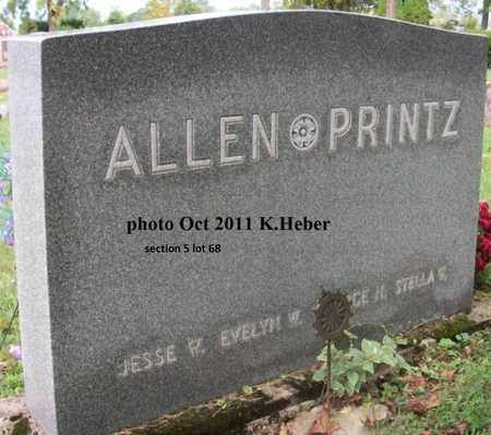 PRINTZ ALLEN, EVELYN W - Champaign County, Ohio | EVELYN W PRINTZ ALLEN - Ohio Gravestone Photos