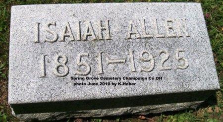 ALLEN, ISAIAH - Champaign County, Ohio   ISAIAH ALLEN - Ohio Gravestone Photos