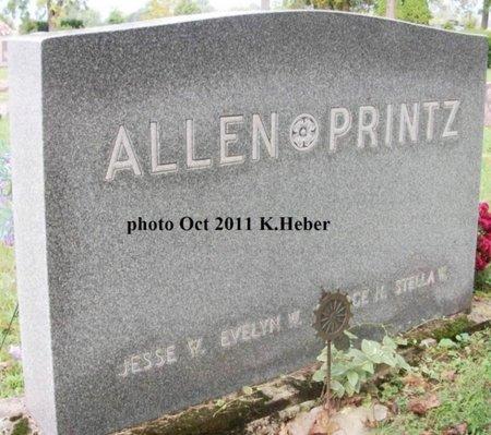 ALLEN, EVELYN W - Champaign County, Ohio   EVELYN W ALLEN - Ohio Gravestone Photos