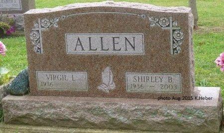 ALLEN, SHIRLEY B - Champaign County, Ohio | SHIRLEY B ALLEN - Ohio Gravestone Photos