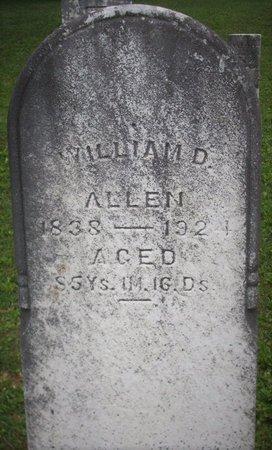 ALLEN, WILLIAM D - Champaign County, Ohio | WILLIAM D ALLEN - Ohio Gravestone Photos