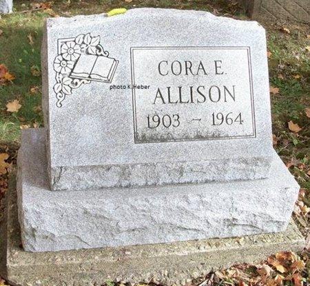 ALLISON, CORA ETHEL - Champaign County, Ohio   CORA ETHEL ALLISON - Ohio Gravestone Photos