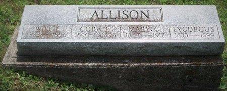 ALLISON, CORA E - Champaign County, Ohio   CORA E ALLISON - Ohio Gravestone Photos