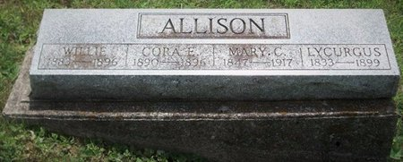 ALLISON, LYCURGUS L - Champaign County, Ohio | LYCURGUS L ALLISON - Ohio Gravestone Photos