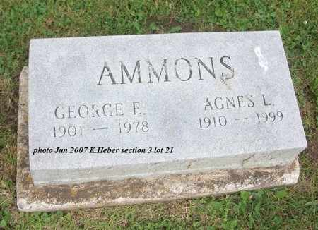 PATESELL AMMONS, AGNES LUCILLE - Champaign County, Ohio | AGNES LUCILLE PATESELL AMMONS - Ohio Gravestone Photos