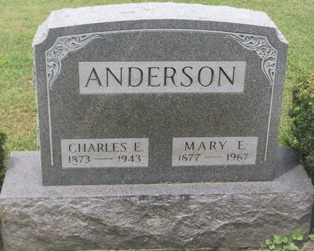 ANDERSON, MARY ELIZABETH - Champaign County, Ohio | MARY ELIZABETH ANDERSON - Ohio Gravestone Photos
