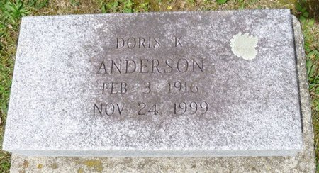 ANDERSON, DORIS K - Champaign County, Ohio | DORIS K ANDERSON - Ohio Gravestone Photos