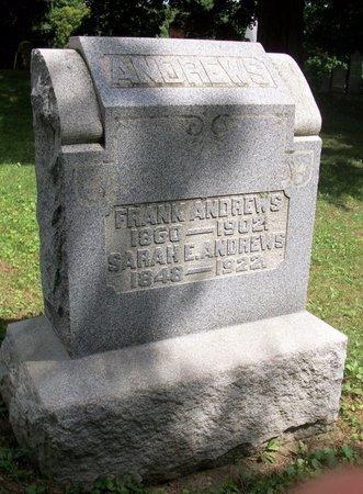 ANDREWS, SARAH E - Champaign County, Ohio | SARAH E ANDREWS - Ohio Gravestone Photos