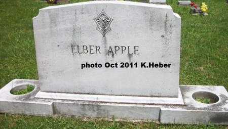 APPLE, ELBER - Champaign County, Ohio | ELBER APPLE - Ohio Gravestone Photos