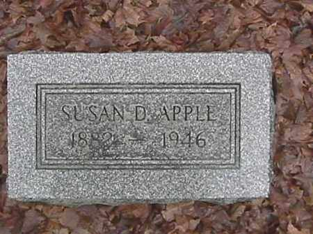 APPLE, SUSAN DORINDA - Champaign County, Ohio | SUSAN DORINDA APPLE - Ohio Gravestone Photos