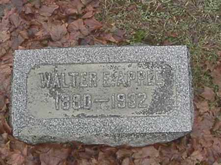 APPLE, WALTER E. - Champaign County, Ohio | WALTER E. APPLE - Ohio Gravestone Photos