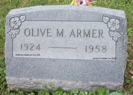 ARMER, OLIVE MAY - Champaign County, Ohio   OLIVE MAY ARMER - Ohio Gravestone Photos