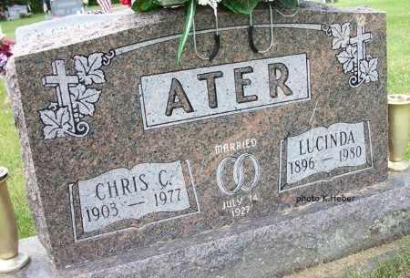 ANDERSON ATER, LUCINDA - Champaign County, Ohio | LUCINDA ANDERSON ATER - Ohio Gravestone Photos