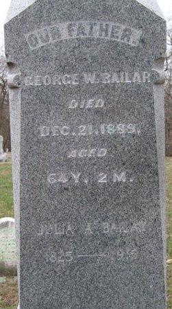 BAILAR, JULIA A - Champaign County, Ohio   JULIA A BAILAR - Ohio Gravestone Photos