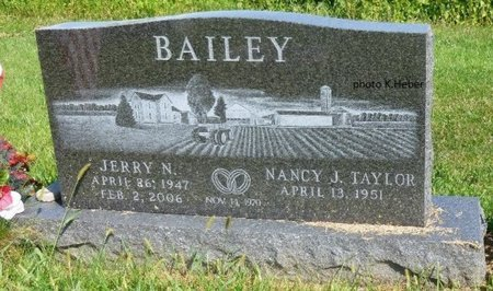 BAILEY, NANCY J - Champaign County, Ohio | NANCY J BAILEY - Ohio Gravestone Photos