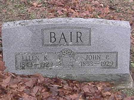 BAIR, ELLEN K. - Champaign County, Ohio | ELLEN K. BAIR - Ohio Gravestone Photos
