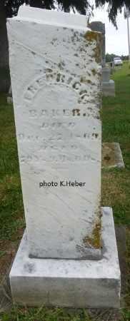 BAKER, FREDERICK - Champaign County, Ohio | FREDERICK BAKER - Ohio Gravestone Photos