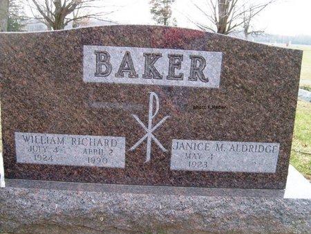 BAKER, WILLIAM RICHARD - Champaign County, Ohio | WILLIAM RICHARD BAKER - Ohio Gravestone Photos